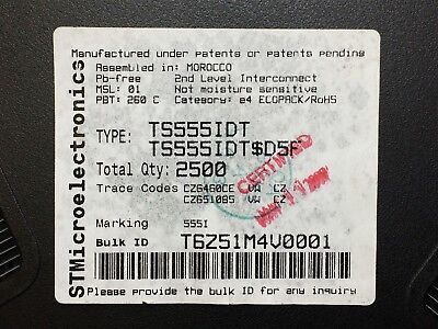 Ts555id St Micro Ic Osc Single Timer 2.7mhz 8soic Rohs 20 Pieces