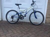 "Boys full suspension mountain bike 24"" wheels"