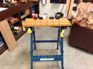 MASTER CRAFT PORTABLE WORK TABLE