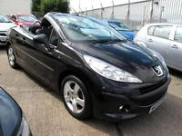 2009 59 Peugeot 207 CC 1.6 VTi 120 Sport Convertible Low Mileage 29K 1FK Black