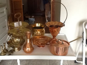 BRASS AND COPPER ITEMS