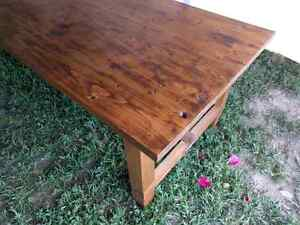 Big harvest style table. Extremely solid, handmade. Peterborough Peterborough Area image 7