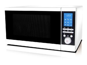 White Grill Microwave 20 Liters With Digital Timer & Display 800w & 1000w Grill