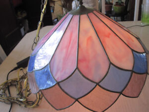 stained glass hanging lamp shade