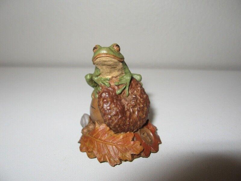"Tom Clark ""Tad"" Mini Gnome Figurine #07 Signed 1 3/4"" Height VGC"