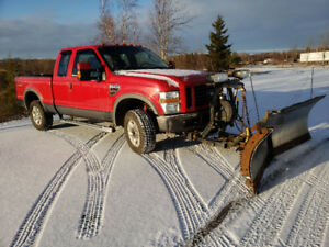 2008 FORD F-250 4X4 WITH STAINLESS V-PLOW NEW MVI