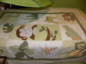 literie pour lit simple et déco jungle