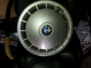 """BMW Hub Caps 2; one pair for 14"""" Wheels from a mid 80's 3 Series"""