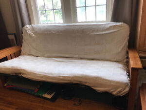 Futon with matress and washable cover