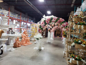 New collection of wedding decor inventory