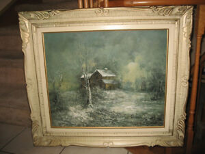 Framed Signed Oil Paintings and Art Prints