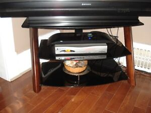 3 Tier TV Stand (black glass)