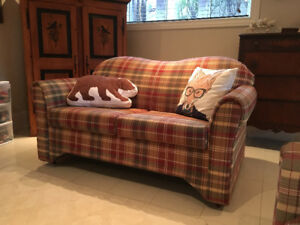 Excellente condition sofa et causeuse champêtre