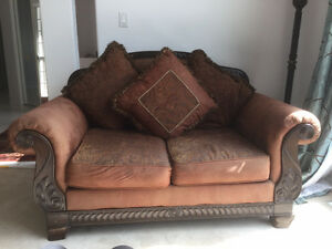 Antique style wooden Sofa with Loveseat