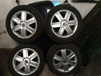 16in Renault alloys brilliant tyres