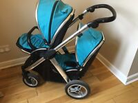 Oyster Max Tandem Travel System VGC lots of extras twin double buggy pram