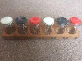 Jamie Oliver spice rack with jars