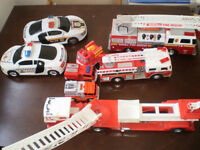 Lot of emrgency vehicles