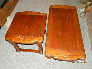 Coffee table and 2 end tables London Ontario image 1
