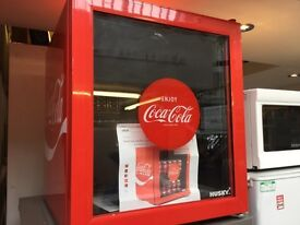 New A Graded Coke cola red table top fridge