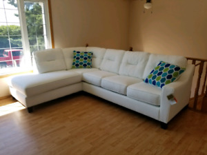 White sectional!!!