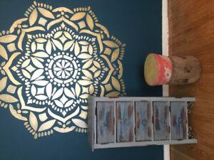 Dresser & Ottoman/Stool
