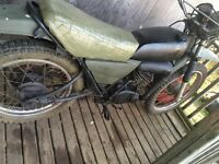 1976 Dt125 2 stroke street and trail