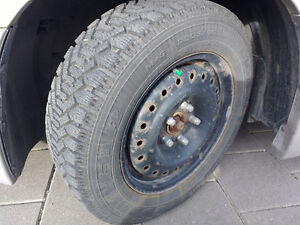 4 Winter tires on steel rims London Ontario image 1