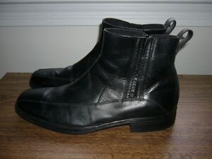 Black Bostonian Leather Ankle Boots Size 12 W