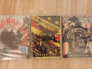 Sons of Anarchy Seasons 1, 2 and 3