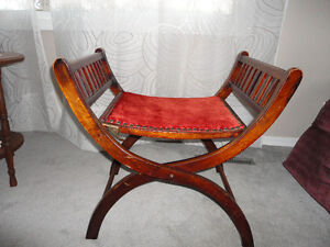 ANTIQUE ADJUSTABLE BENCH WITH PATENT NUMBER