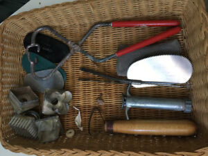 Assorted clay tools