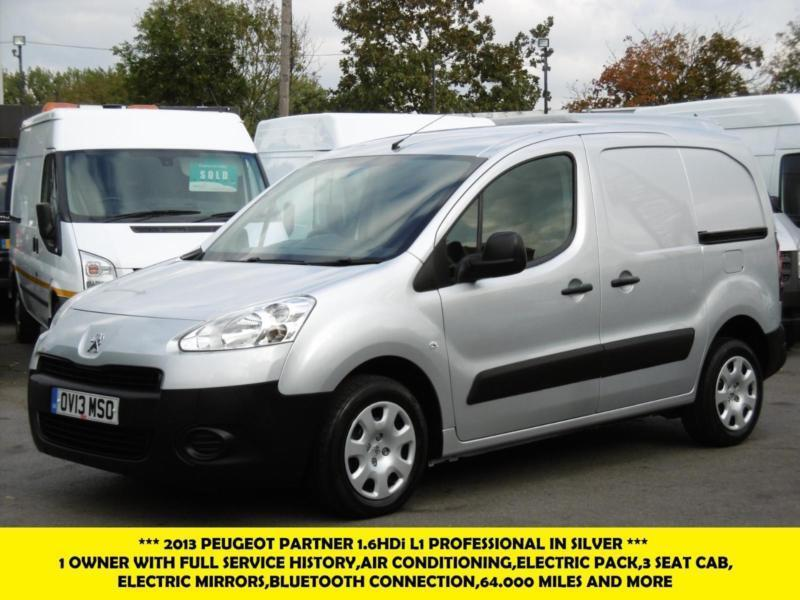 2013 PEUGEOT PARTNER 1.6 HDI PROFESSIONAL L1 850 IN SILVER WITH AIRCON,ELECTRIC