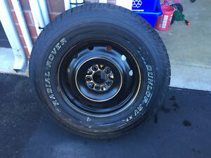 P235/70 R16 DUNLOP RADIAL ROVER XT Winter Tires and Rims