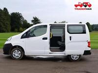 2013 NISSAN NV200 1.5DCI SE SEAT 5 SEAT CREW VAN CONVERSION DIESEL MANUAL