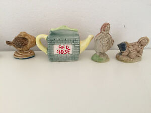 26 Vintage Wade Red Rose Tea Figurines