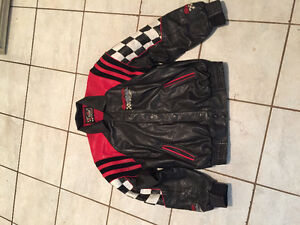 Black & Red Snap-on Leather jacket