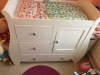 Tutti Bambini baby changer, wardrobe and chair