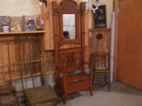 Antique hall stand bench