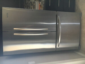 Kitchen Aid French door stainless steel fridge