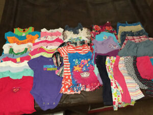 Girls 18-24 Mth & 2T Spring/Summer Bundle (~60 items)