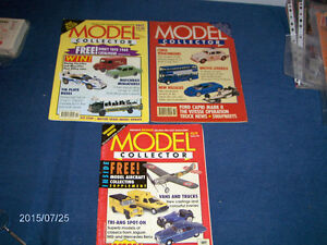 3 ISSUES OF MODEL COLLECTOR MAGAZINE-1990'S-CARS, TRUCKS, TOYS