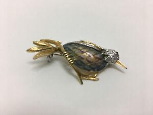 IMMACULATE ART WORK - 18KT Bird-Shaped Brooch (w/Diamond & Ruby)