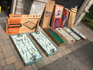 6 ASSORTED 1950S NHL TABLE HOCKEY GAMES EAGLE TOYS