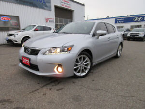 2012 Lexus CT 200h-LEATHER,1 OWNER,S ROOF,H SEATS,WARRANTY$13150