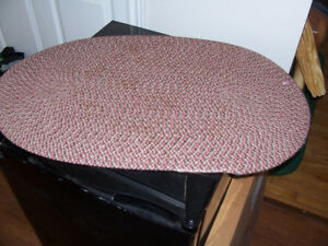 Small Vintage Braided Rug 30 by 19