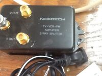 Nexxteck amplifier TV.FM. VCR. $10.00