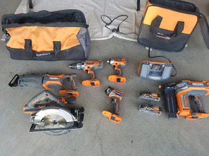 Rigid Combo kit plus Nailer 18-volt, cordless