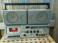 Vintage Toshiba Folding 4Band Radio Cassette Player/Recorder RT-8740SW - faulty
