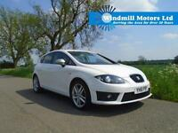 2011/61 SEAT LEON 2.0 TDI CR FR+ 5DR WHITE + 170 BHP + GREAT SPEC